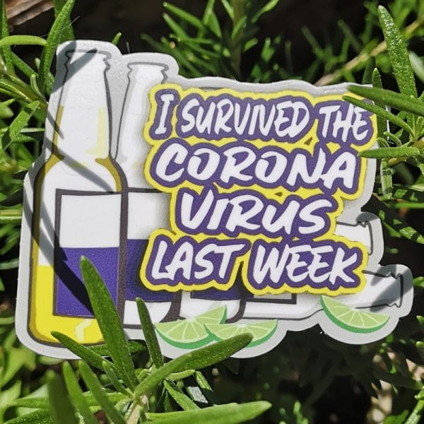 Corona Virus Sticker